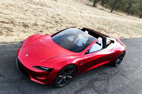 tesla roadster steering wheel red reservation reveal