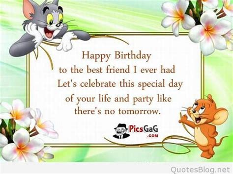 Happy Birthday Quotes To A Best Friend Happy Birthday Friends Wishes
