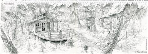 cabin drawings drawing paul schwarz artlog