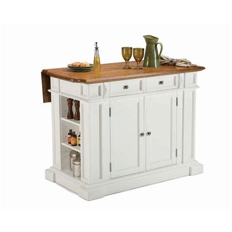 home styles americana white kitchen island  drop leaf