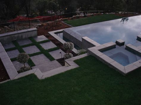 Country Home Ideas Decorating sunken seating area by pool traditional landscape