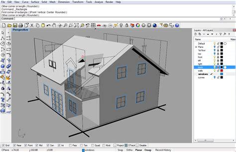 Rhinoceros Software 3d Modeling 1 modeling a simple house part 2 rhinoceros 3d help