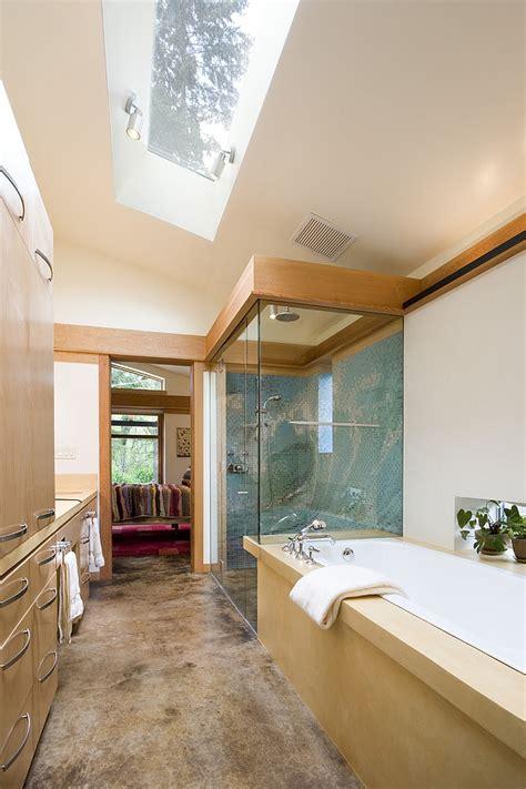 Narrow Bathroom Design 23 gorgeous bathrooms that unleash the radiance of skylights