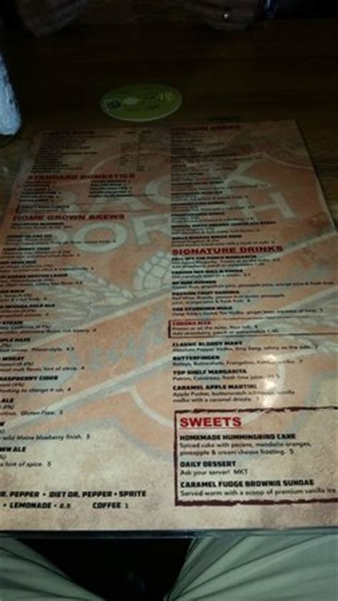 draft house menu menu picture of backporch draft house lawton tripadvisor