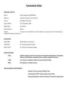 Simple Curriculum Vitae Format Free Resume Templates