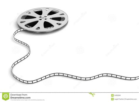 detail of unrolled 35mm movie reel with empty frames in horizontal