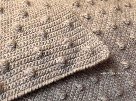 mod 232 le gratuit de plaid au crochet avec le point noisette tricot and co