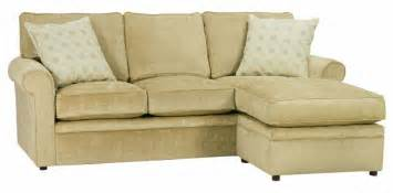 apartment size rolled arm sectional sofa with reversible