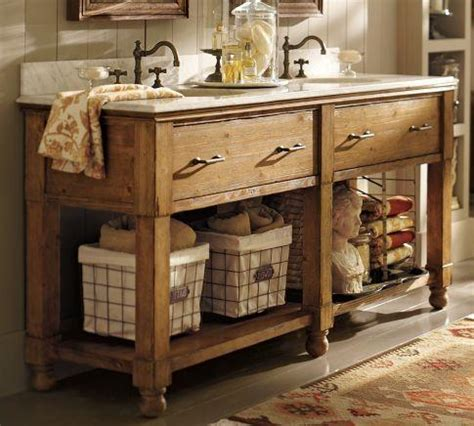 Farm Style Bathroom Vanity William Sink Console Pottery Barn