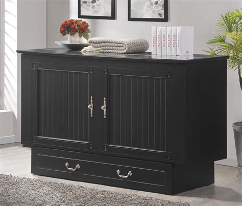queen murphy bed cabinet cottage queen murphy cabinet bed black by arason furniture