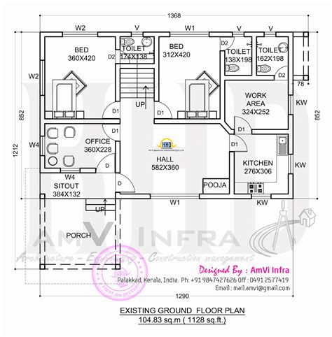 ground floor plan floor plan and elevation 2277 sq ft house kerala home