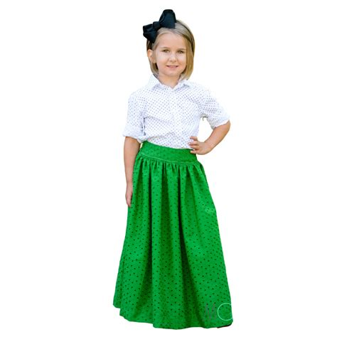 child maxi midi and knee length skirt pdf sewing pattern the