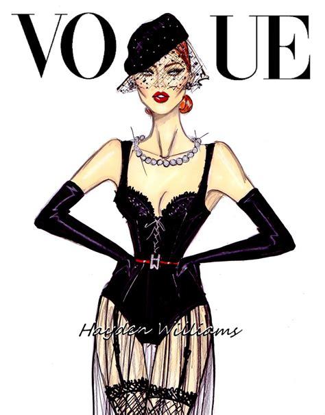 fashion illustration vogue covers hayden williams fashion illustrations vogue all black