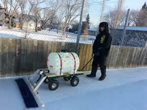 Backyard Ice Rink Resurfacer Saskatoon Man S Homemade Zamboni Keeps Hockey Rink Alive