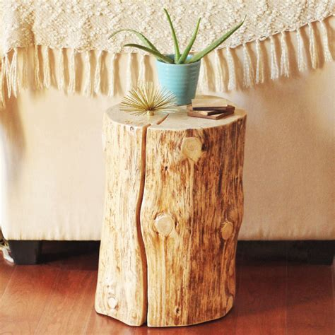 Diy Tree Stump Side Table Justinecelina