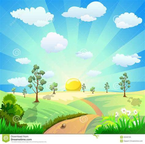wallpaper garden cartoon cartoon landscape background royalty free stock image