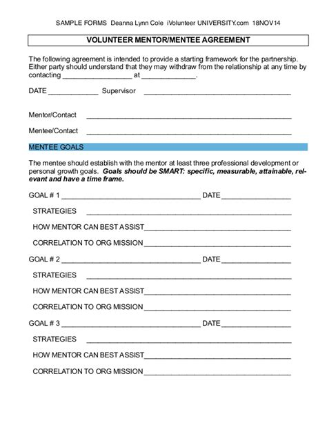 mentoring application templates introducing a volunteer mentoring program part i