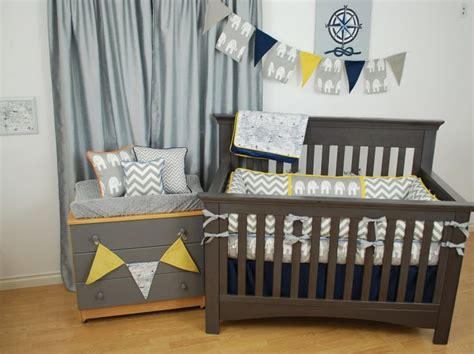 Yellow Elephant Crib Bedding 1000 Images About Zig Zag Chevrons In The Nursery On Pinterest Dust Ruffle Chevron And