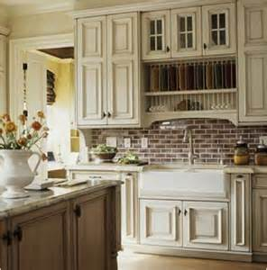 Farmhouse Kitchen Backsplash Cabinets With White Trim Roomology