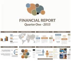 powerpoint report template autumn color scheme powerpoint template financial