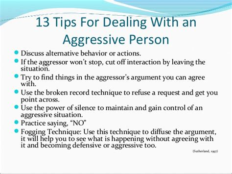 how to deal with an aggressive getting past no dealing with difficult