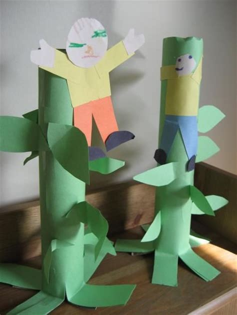 Paper Towel Crafts For Preschoolers - and the beanstalk craft with paper towel roll