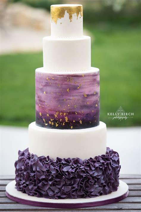 Hochzeitstorte Ombre by 29 Refined Purple And Gold Wedding Ideas Weddingomania