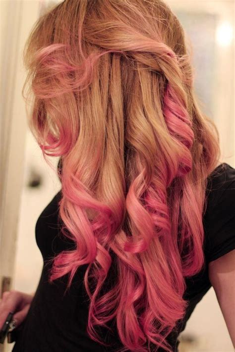 coloring only bottom of d hair pink ombre cool hair color pinterest beauty tips