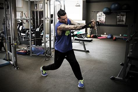 cable baseball swings video pre season workout with los angeles dodger justin