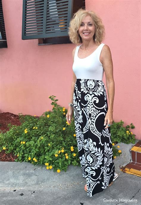 fashion over 50 maxi dress southern hospitality fashion over 50 black and white maxi dress southern