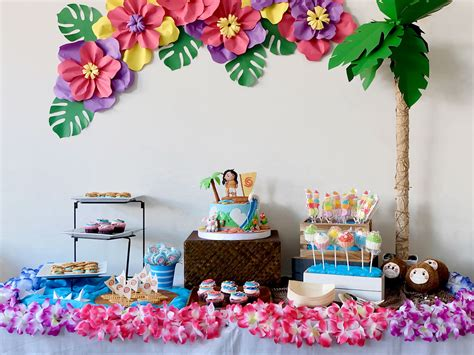 Home Decor Diys by Zo 235 S Moana Birthday Party A Crafted Lifestyle