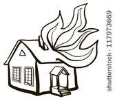 burning house coloring page burning house vector download 1 000 vectors page 1