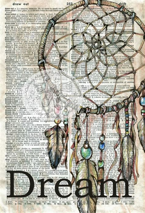 layout artist definition dreamcatcher mixed media drawing on collegiate dictionary