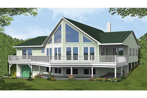 home plan homepw77309 2838 square foot 3 bedroom 2 bathroom a frame home with 0 garage bays