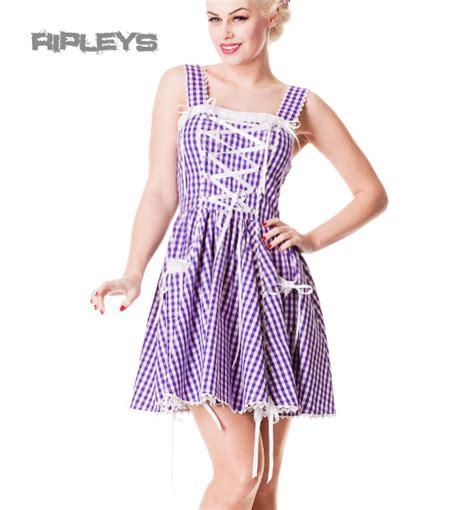 Mini Dress Volture hell bunny mini dress jinmu purple white gingham