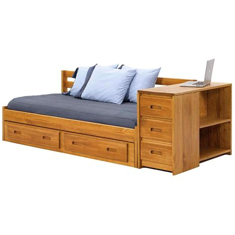 wood storage drawers for under the bed wooden storage daybed under bed drawers honey finish