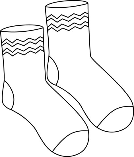 free printable coloring pages of socks free best free