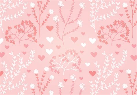 seamless heart pattern vector floral heart vector seamless pattern download free