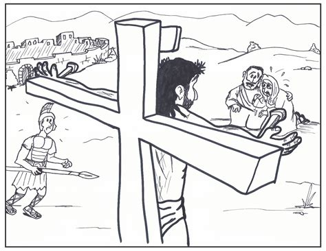 Jesus On The Cross Pencil Drawings Color Pages Of Jesus Drawing Of Jesus On The Cross 2