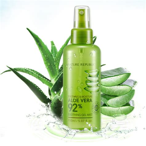 Nature Republic Aloe Vera Soothing Spray nature republic soothing moisture aloe vera 92 soothing