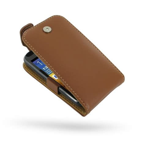 Casing Samsung Ace 2 samsung galaxy ace 2 leather flip top brown