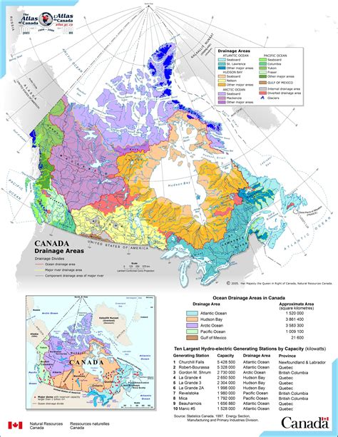 Search Of Canada Map Of Canada S Drainage Basins Derietlandenexposities