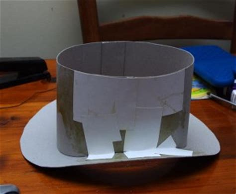 How To Make A Top Hat Out Of Paper - cardboard steunk top hat tutorial lost wax