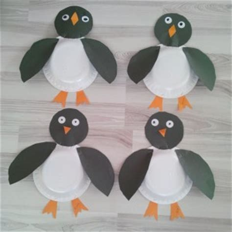 Penguin Paper Plate Craft - paper plate animals craft crafts and worksheets for