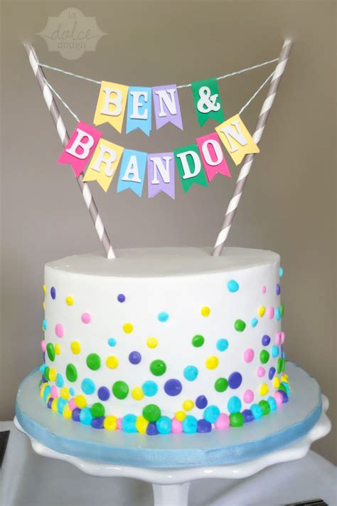 Nfetti Cake For A Twins  Ee  Birthday Ee   Cakecentral M