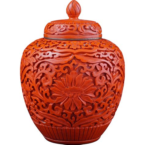 chinese ginger jars chinese cinnabar lacquer ginger jar with lid circa 1900