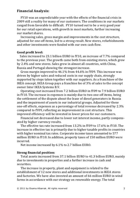 strong financial analysis ikea strategic case study analysis