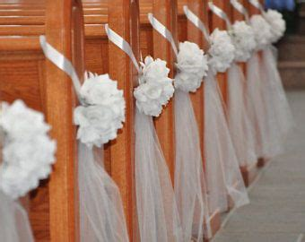 diy decorations bows diy decorate church pews with tulle for a wedding
