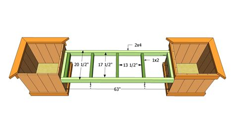 woodwork deck bench planter plans pdf plans