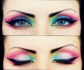 colorful eye makeup beautifully blended rainbow eyeshadow beautiful